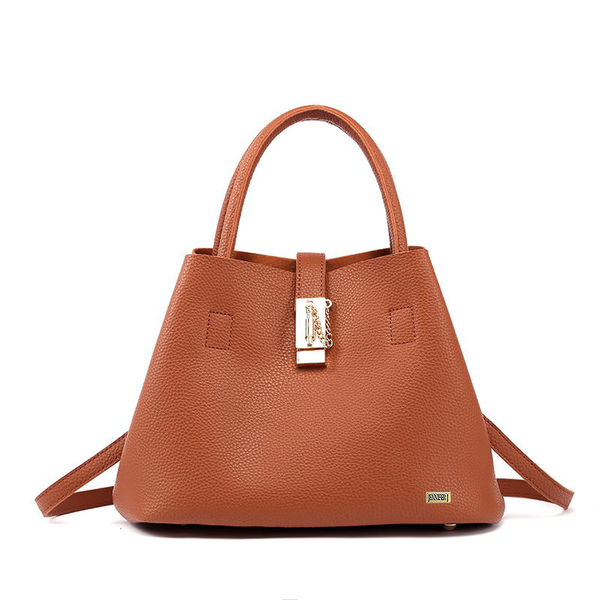 Casual Tote Brown Handbag