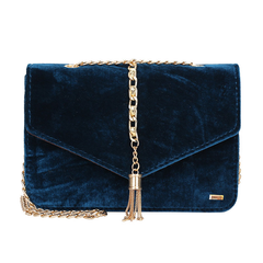Velvet Dark Blue Messenger Bag