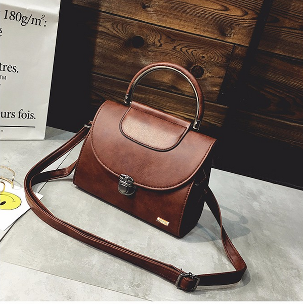 Flap Retro Brown Tote Bag