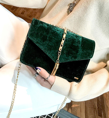 Velvet Green Messenger Bag