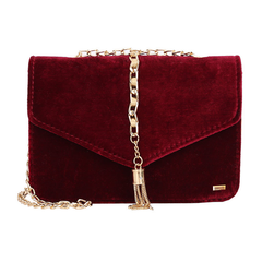 Velvet Maroon Messenger Bag