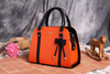 Bow Shoulder Orange Handbag