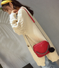 Small Chain Crossbody Red Handbag