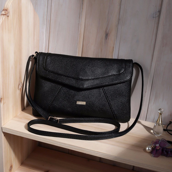 Envelope Black Messenger Bag