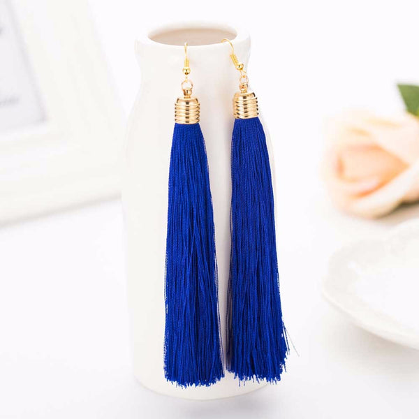 Dangle Tassel Blue Earring