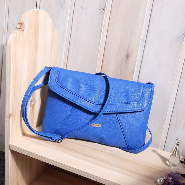 Envelope Blue Messenger Bag