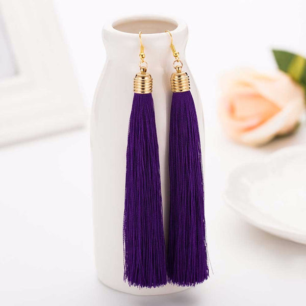 Dangle Tassel Purple Color Earring