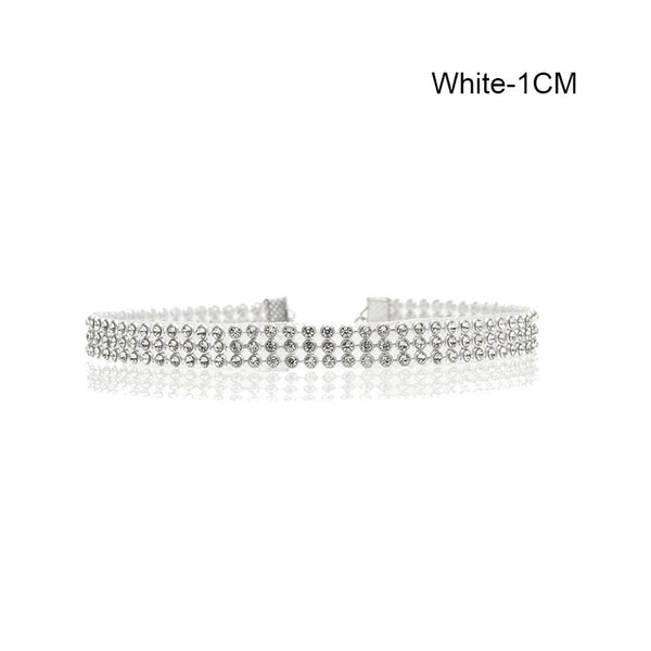 Crystal Choker White Color Necklace