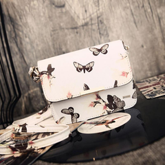 Vintage Retro Satchel White Bag