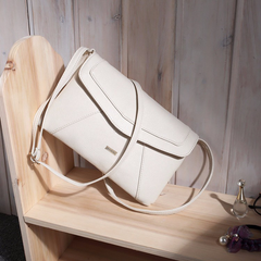 Envelope White Messenger Bag