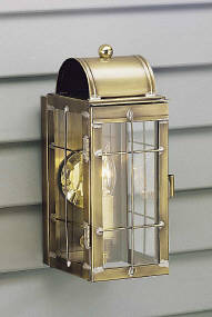 Irvin's Country Tinware Cape Cod Wall Lantern with Bars