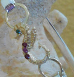 14KT Seahorse 3 rubies and emerald eye