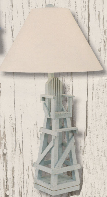 Coast Lamp Manufacturing Life Guard Table Lamp - Weathered Grey