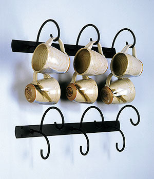 Horizontal Metal Mug Rack