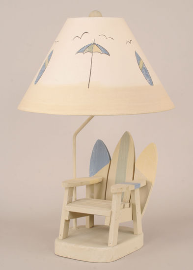 Coast Lamp Manufacturing Surf Board Chair Table Lamp