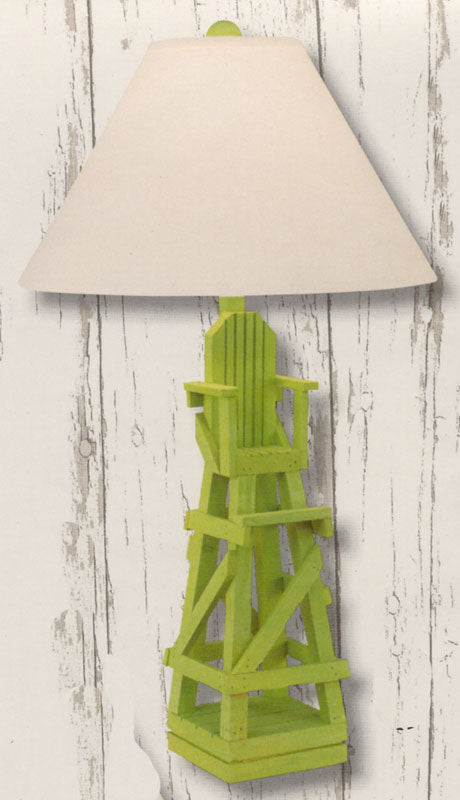 Coast Lamp Manufacturing Life Guard Chair Table Lamp - Key Lime