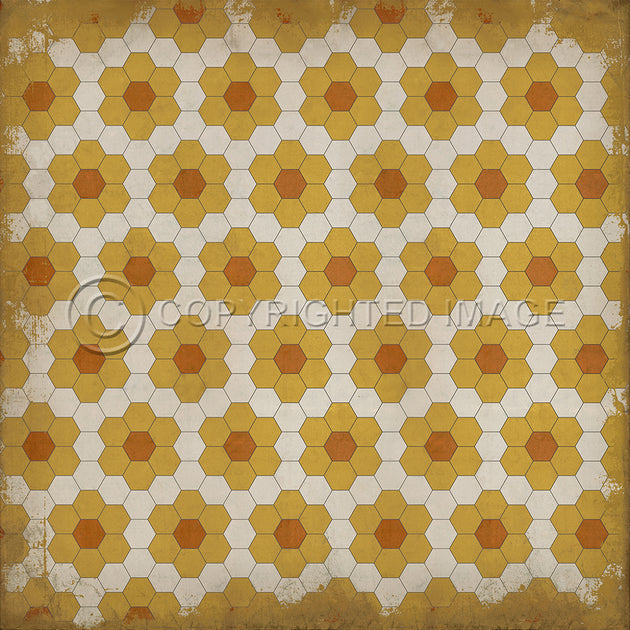 Vintage Vinyl Floor Cloths by Spicher - Pattern 02 -- 5 COLOR STYLES