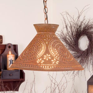tin lighting. e irvinu0027s country tinware roosevelt shade light with chisel in rustic tin