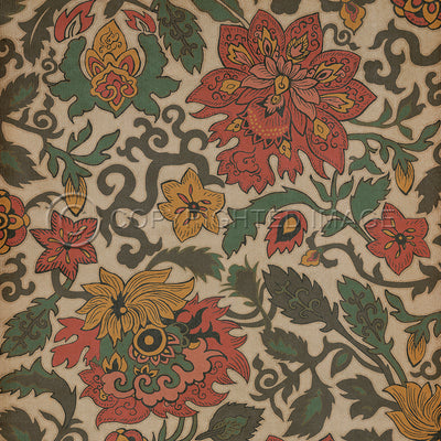 Vintage Vinyl Floor Cloths by Spicher - Pattern 71 (10 Designs- Colors)