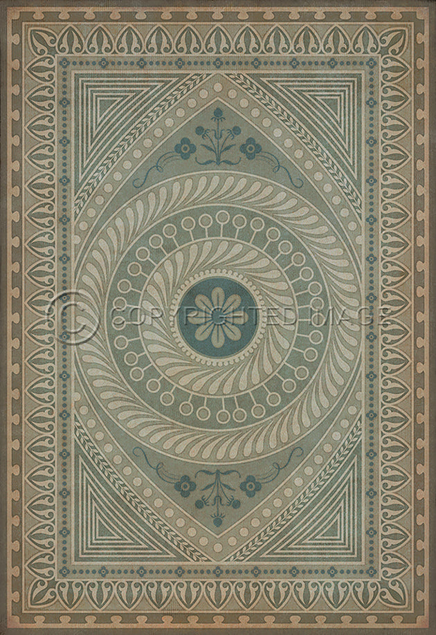 Vintage Vinyl Floor Cloths by Spicher - Pattern 75