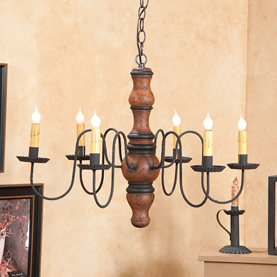 Gettysburg Wooden Chandelier in Hartford Colors