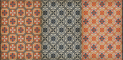 Spicher and Company Vintage vinyl floor cloth pattern 19