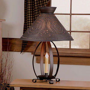 Betsy Ross Lamp with Chisel Design in Kettle Black