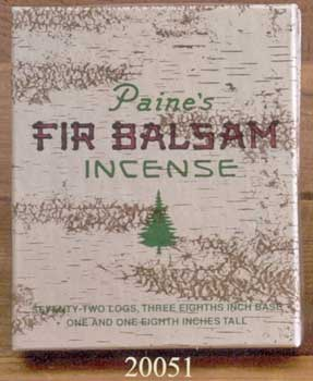 Maine Balsam Fir Incense logs