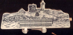Lighthouse Scene Cribbage Board