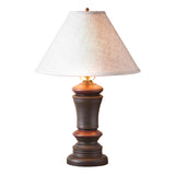 Peppermill Lamp in Black with Linen Ivory Shade