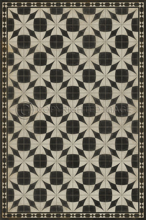 Spicher and Company Vintage vinyl floor cloth - Pattern 29 Voltaire
