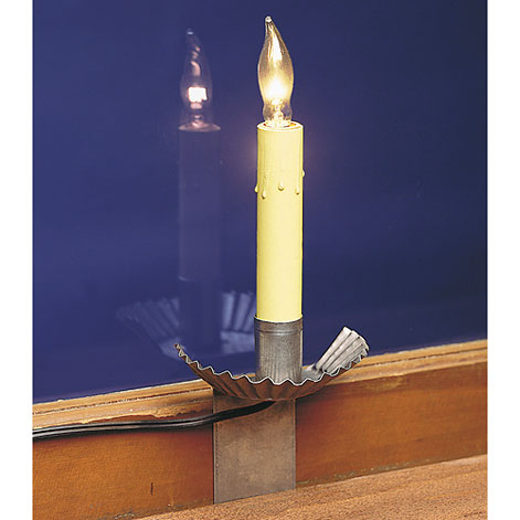 "Irvin's Tinware Raised Crimped Window Sill Light with 6"" Socket"