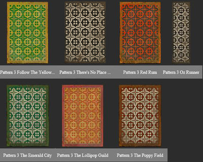 Vintage Vinyl Floor Cloths Pattern 3 (7 color choices)