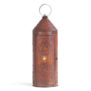 "22"" Chimney Revere Lantern in Rustic Tin"
