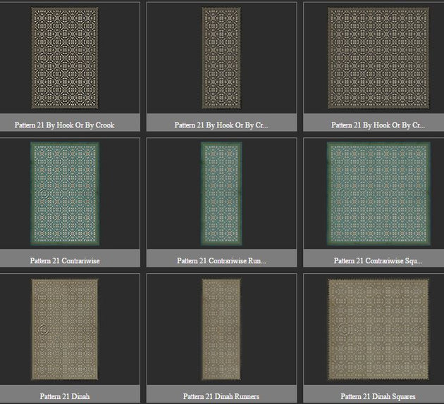Vintage Vinyl Floor Cloths by Spicher - Pattern 21 (18 Design Options)