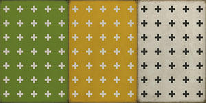 Spicher and Company Vintage vinyl floor cloth pattern 24