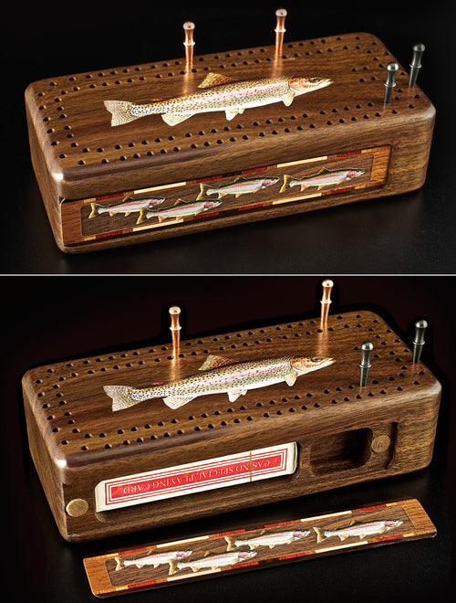 Wooden Cribbage Boxes - 7 styles