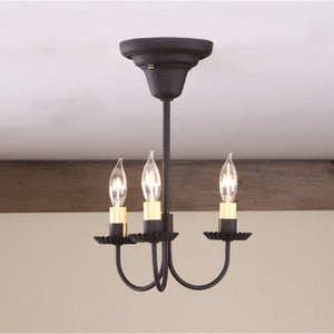 3-Arm Primitive Ceiling Light in Textured Black