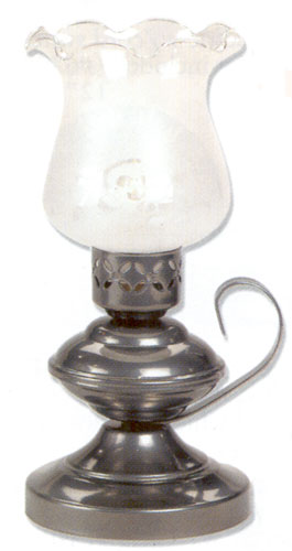 Small Table Lamp   Electric Or Candle