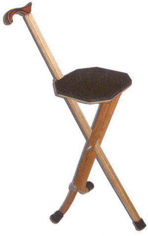 Wooden Walking Cane Seat