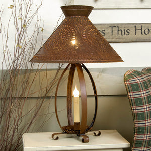 Betsy Ross Lamp in Rustic Tin