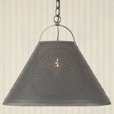 Irvin's Country Tinware Homestead Shade Light with Chisel
