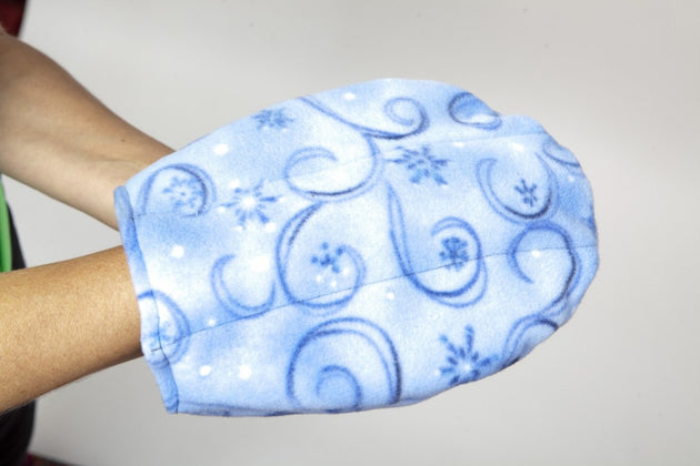 Heated Single Hand Mitt Blue Swirl