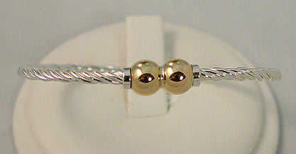 Cape Cod Twisted Bracelet with Double Ball