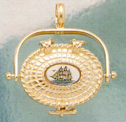 Nantucket Basket Charm - 14K gold