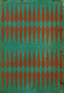 Vintage Vinyl Floor Cloths by Spicher - Pattern 08 (14 color choices)