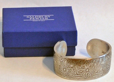 Salisbury Pewter Flower of the Month Bracelet