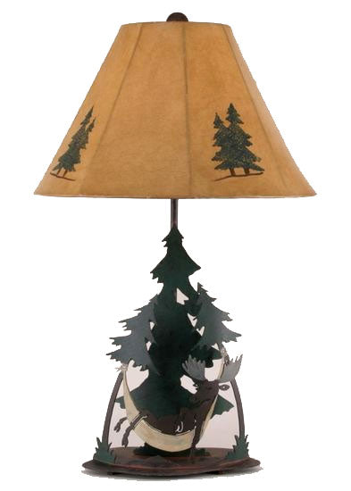 Coast Lamp Manufacturing Moose in Hammock Table Lamp