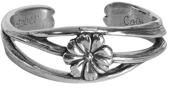 Flower of the Month Bracelet by Salibury Pewter