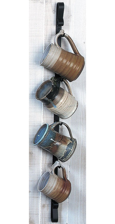 Metal Wall Mounted Mug Rack - Vertical